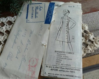 Retro Ladies A-line UNCUT Pattern by Kate Marchbanks - Mid Century Sewing Pattern + Paper Pattern, Vintage Ladies Size 8 Dress Pattern