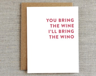 Funny Wine Card, Funny Friendship Card, Card For Card, Wino Card, Celebration Card, Party Card, Alcohol Card, Drinking Card
