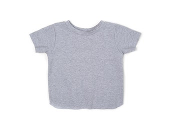 ON SALE | Gray Short Sleeve Shirt | Ready To Ship | Free Shipping