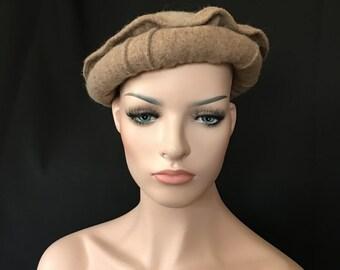 Afghan War Collectible Militaria Pakol Masoud Mujahideen Military Wool Hat BEIGE Uber Kuchi®