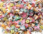 250/500/1000 PCS Animal Cartoon Polymer Clay Slices Assorted Fimo Mix Kawaii Clay Cane Slices Cute Manicure Deco Nail Art Decoration PSC.AM