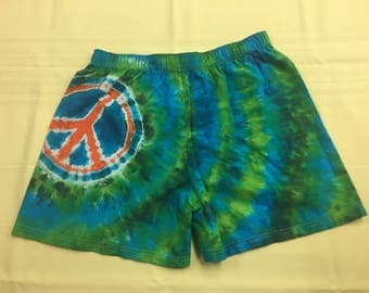 Tie Dye Peace Sign Boxers IN STOCK - L