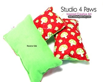 Guinea Pig Luxury Large Pillows - (Red Mushrooms)