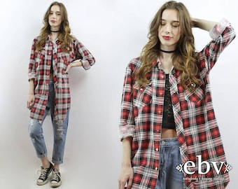 90s Grunge Shirt 90s Plaid Flannel Shirt Oversized Plaid Shirt Oversized Flannel Shirt 90s Grunge Top Plaid Button Up Plus Size Shirt XL 1X