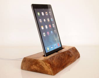 "Wooden iPad Air dock, iPad Pro 9.7"" dock,  iPad Air 2 charging station - iPad Air  stand - iPad Air holder - unique gift"