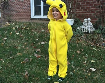 Child's Pikachu costume, size 6mths, 1T, 2T, 3T, 4T ORDER before OCTOBER 1ST to guarantee delivery by Halloween