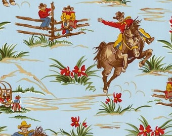 Cowboy Fitted Bed Sheet - Cradle, Pack and Play, Mini Crib, Crib, Twin, Full - Barn Dandy