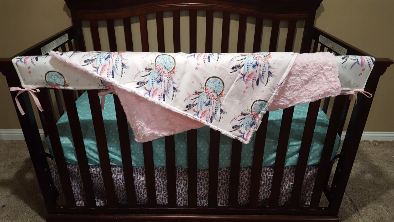 Baby Girl Crib Bedding Dream Catcher Feathers