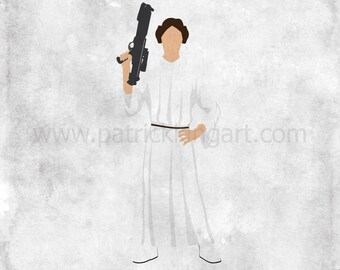 Star Wars A New Hope - The Princess - Princess Leia Art Print - poster, rebel, princess, star wars, minimalist