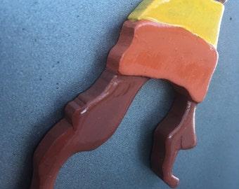 JAYNE's HAT Hand-carved wooden magnet