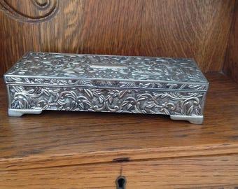 Vintage Godinger Silver Plated Jewelry Box / Metal Jewelry Box / Jewelry Storage
