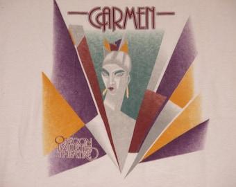 Rare Vintage 1990s Carmen Ballet Theater Avant Garde Art Deco Long Sleeve Shirt.