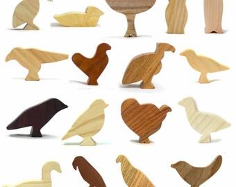 Wooden Bird Toy Set, Toy Bird, wood bird toy, kid wooden toy, wooden toy for boy, Natural Wood Toy, Kids Toys, Wooden Toy For Girls