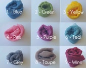 Single Newborn Cheesecloth Hand Dyed Boy Girl Photo Prop - Blue, Green, Yellow, Pink, Purple, Teal, Grey, Taupe, or Wine