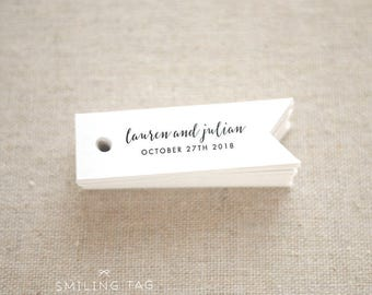 Romantic Elegance Personalised Gift Tags - Wedding Favor Tags - Thank you tags - Hang tags - Wedding Gift Tags - Set of 40 (Item code: J505)