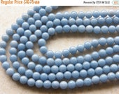 Sale 8mm Angelite Round Polished Semi-Precious Beads, Half Strand (IND2C94)