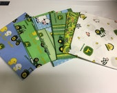 John Deere Licensed Fat Quarter Assortment Six Cotton Fabric Cuts