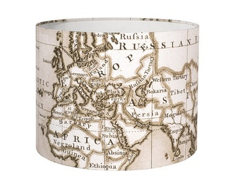 Lamp Shade - Old World Map. Lampshade, maps, atlas, vintage, antique, vintage.