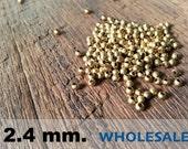 1000 Pcs (2.4mm)  Brass Beads - Round -Brass Spacer-