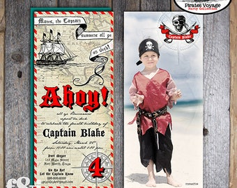 Pirate Invitation | Pirate Invite | Pirate Photo Birthday Invitation | Pirate Party Invitation | Caribbean Hook Neverland Pan | Printable