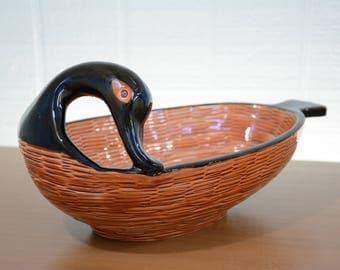 Italian Rosenthal Netter Goose Fruit, Bread, Serving Bowl