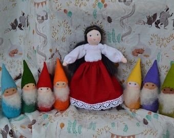 SALE~ Snow White and the Seven Dwarfs~ Waldorf doll Snow white and the seven dwarfs