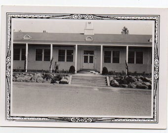 Civilian Conservation Corps Administration Building Baird California Vintage Snapshot Black And White Photo