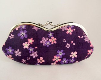 Cherry Blossoms Purple Eyeglass Case - Sunglass Case - Eye Glass Case - Glasses Case - Sunglasses Case - Soft Eyeglass Case