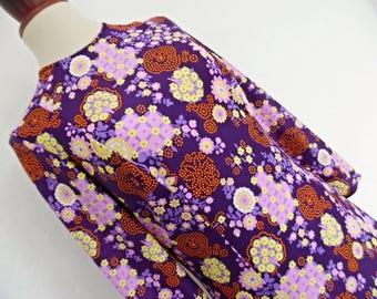 SALE:))) WONDERLAND BERRY Trees . Adorable Print Cute Berries Flowers Maxi Mod Dress 60s M