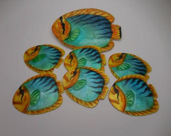 Capiz Tropical Fish Plates