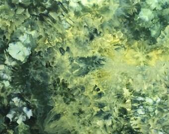 Ice Dyed Fabric, Hand Dye, Jungle Glow, Fat Quarter (MB) #9