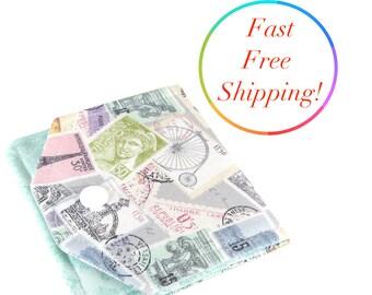 Paris Wallet, Small Womens Wallet, Travel Wallet, Minimalist Wallet Women, Fabric Wallet, Wallets For Women, Credit Card Wallet, Mini Wallet