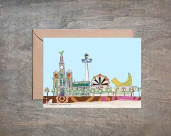 Liverpool Waterfront - Waterfront - Liverpool - Radio City Tower - Lambanana - Greetings Card - Blank Card