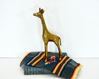 Brass Giraffe Figurine