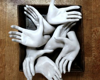 ladies mannequin hands,  jewelry display, arts and crafts, creepy decor