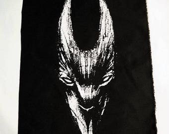 black rabbit of inle head Back patch