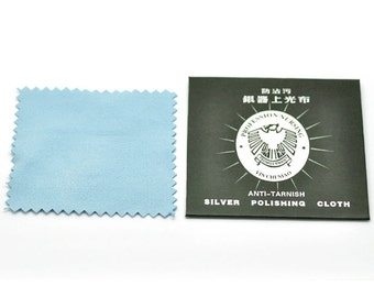 1 Jewelry Cloths For Silver Jewelry - WHOLESALE - Anti-Tarnish - 82x82mm - Ships IMMEDIATELY from California - T66