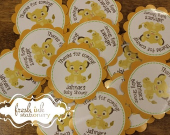 Personalized Baby Simba Lion King Stickers