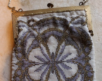 Beautiful Antique Micro Bead Purse Made in France
