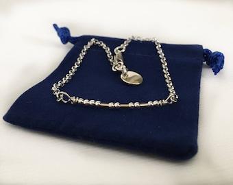 Morse Code Bracelet - Secret Message Bracelet - Custom Morse Code Message - Sterling Silver - Gold Filled - Stacking - Layering - Dainty