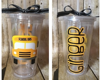 School Bus Driver Gift cup tumbler personalized