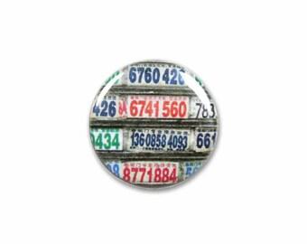 1 Inch Pinback Button Original - Rainbow Numbers