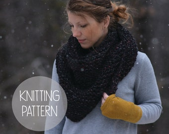 knitting pattern - drift triangle scarf pattern - instant download