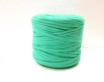 Chunky yarn, Sea green t shirt yarn, Cotton T-Shirt yarn, Tricot yarn for bag, Tshirt yarn for rug, Zpagetti yarn, Recycled fabric yarn