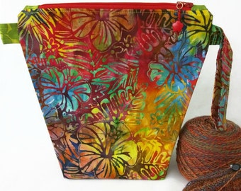 Small Wide-Mouth Wedge - Angie's Floral Batik