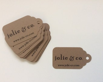 Customized Product Tags - Logo and Website Tag - Company Tags - Business Tags