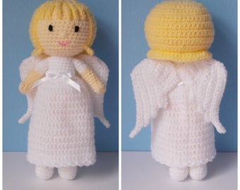Angela the angel, doll, crochet toy, stuffed toy