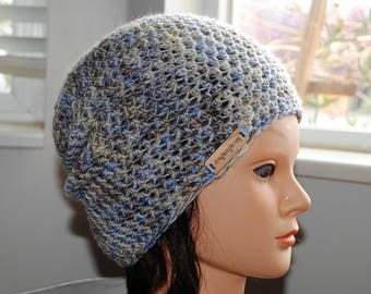 SALE 20% off- papyrus merino wool crochet adult hat