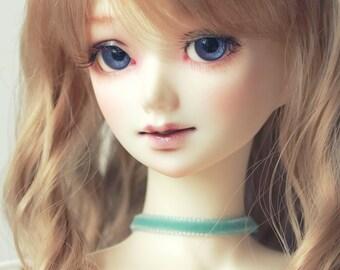 SD/DD Baby Blue velvet doll choker