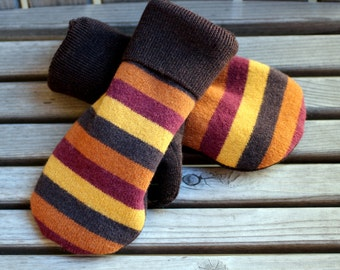 Wool Mittens, Mittens, Sweater Mittens, Upcycled Wool Sweater Mittens, Sweater Mittens,  Recycled Wool Sweater Mittens